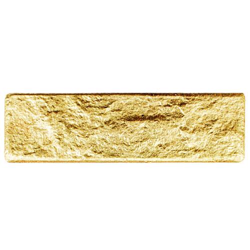 セール10%割引 【NEB004L24】 ポリウレタン製ブリックタイル・レンガ エコブリック ゴールド Lサイズ 270×75×9mm 24枚セット