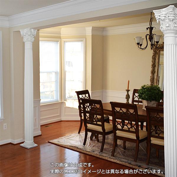 【NFG204-10M】 FRP製装飾柱 ゴールデンモールFRP製コラム 高さ2285mm 1/2円形2本セット