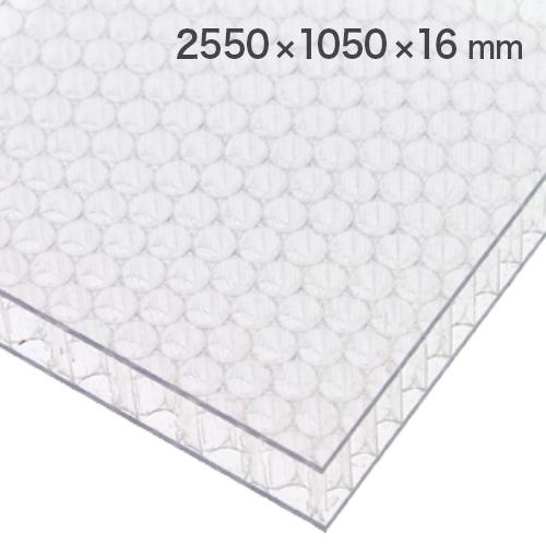 60%割引 ポリカーボネイトパネル 半透明・艶あり 2550×1050×16mm [NAB1016CL] ※アウトレット在庫限り