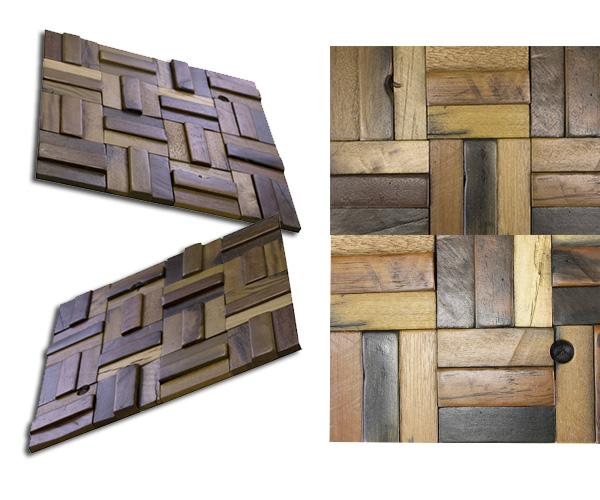 NDB3310W11|ウッドパネル壁用 3Dウッドボード 表面ツヤ有り 300×300mm 11枚セット:1枚あたり1,041円