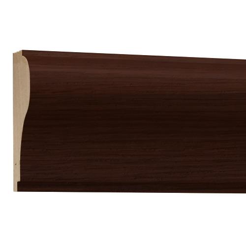 10%割引アウトレット モールディング 木製/表面シートラッピング 廻り縁・チェアレール ウォールナット色 60×30×3600mm [NRWR170E]