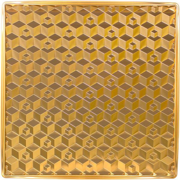 NDB582GDBK|3Dボード ポリスチレン製 壁装飾パネル 500×500mm 金色・黒色セット