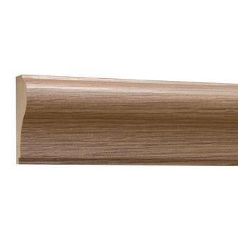 10%割引アウトレット モールディング 木製/表面シートラッピング 廻り縁・チェアレール ブラウンオーク色 60×30×3600mm [NRWR170F]