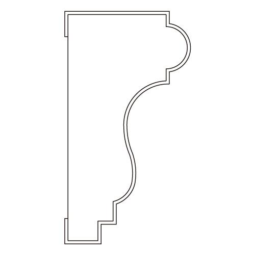 10%割引アウトレット モールディング 木製/表面シートラッピング 廻り縁・チェアレール ビーチ杢色 40×21×3600mm [NRWR175B]