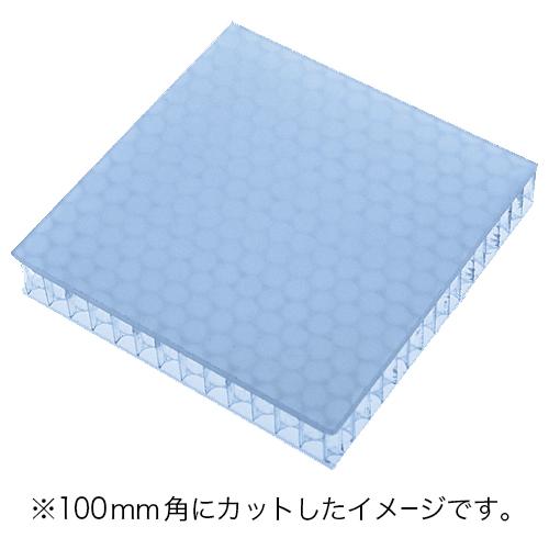 60%割引 アクリル樹脂+ポリカーボネイトパネル アイスブルー半透明・艶なし UV加工 3020×1000×19mm [NAB4019IB] ※アウトレット在庫限り