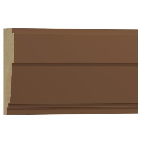10%割引アウトレット モールディング 木製/表面シートラッピング 廻り縁・チェアレール ブラウンオーク色 120×40×3600mm [NRWR663F]