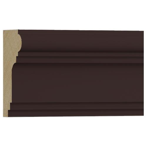 10%割引アウトレット モールディング 木製/表面シートラッピング 廻り縁・チェアレール ディープオーク色 60×30×3600mm [NRWR194G]
