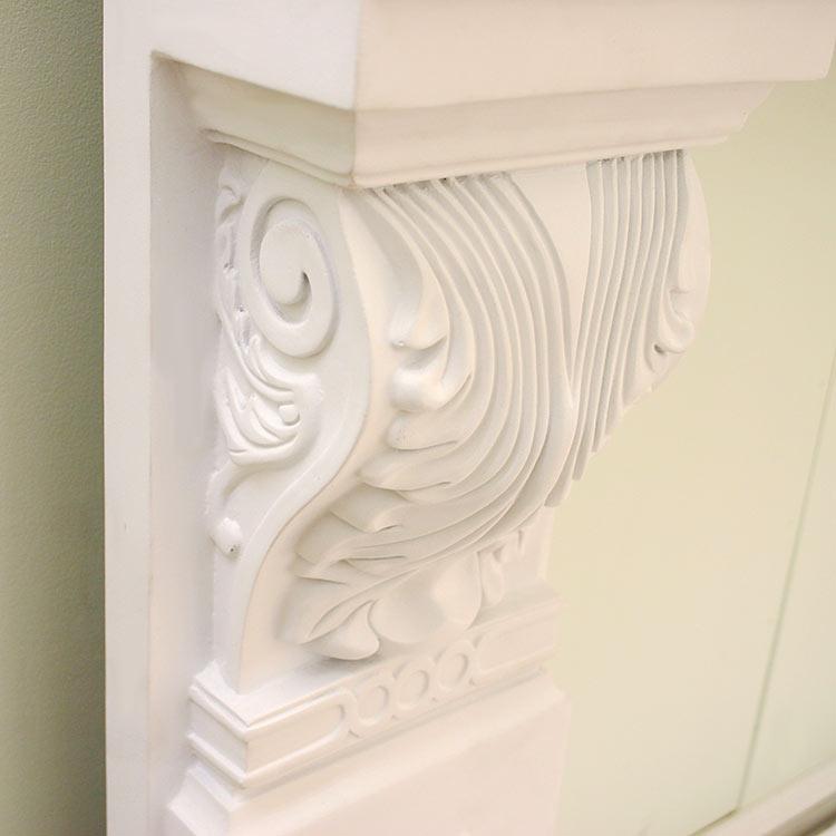 【NFR0711DS】ゴールデンモール FRP製マントルピースセット(自立型) 可愛い家具・姫系家具・姫家具 800×900×300mm