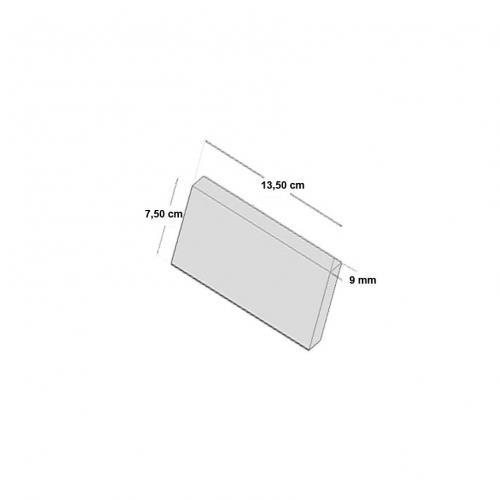 NEB001S24|軽量ブリックタイル・レンガ ポリウレタン製 内装用 ダークブラウン Sサイズ  135×75×9mm 24枚セット