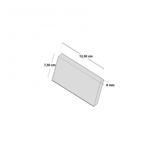 NEB005S24|軽量ブリックタイル・レンガ ポリウレタン製 内装用 ゴールドブラウン Sサイズ 135×75×9mm 24枚セット