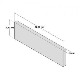 NEB0023L48|軽量ブリックタイル・レンガ ポリウレタン製 内装用 ライトベージュ/ベージュ Lサイズ 270×75×9mm 48枚セット