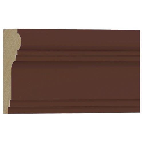 10%割引アウトレット モールディング 木製/表面シートラッピング 廻り縁・チェアレール ウォールナット色 120×60×3600mm [NRWR196E]
