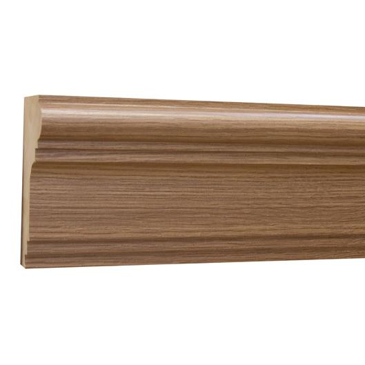 10%割引アウトレット モールディング 木製/表面シートラッピング 廻り縁・チェアレール ブラウンオーク色 120×60×3600mm [NRWR196F]
