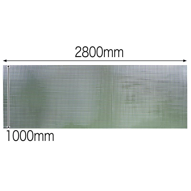 【NDCB003SL-2】壁面装飾パネル ABS樹脂製 サンプロント シルバー 裏面シール有り 1/2カット 1390×1000mm