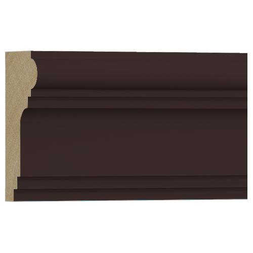 10%割引アウトレット モールディング 木製/表面シートラッピング 廻り縁・チェアレール ディープオーク色 120×60×3600mm [NRWR196G]