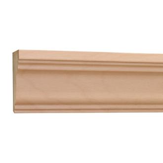 10%割引アウトレット モールディング 木製/表面シートラッピング 廻り縁・チェアレール ビーチ杢色  60×30×3600mm [NRWR199B]