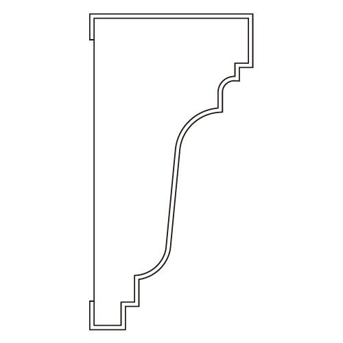 10%割引アウトレット モールディング 木製/表面シートラッピング 廻り縁・チェアレール ウォールナット色 60×30×3600mm [NRWR199E]