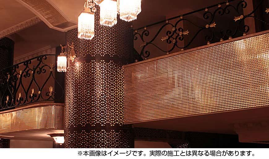 【NDCB003GL-2】壁面装飾パネル ABS樹脂製 サンプロント ゴールド 裏面シール有り 1/2カット 1390×1000mm