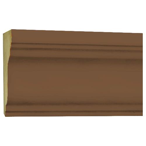 10%割引アウトレット モールディング 木製/表面シートラッピング 廻り縁・チェアレール ブラウンオーク色 60×30×3600mm [NRWR199F]
