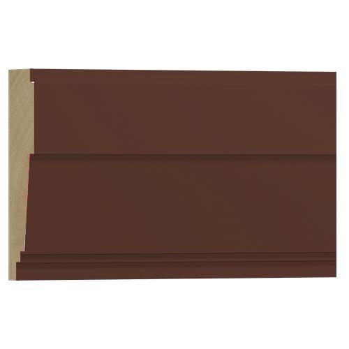 10%割引アウトレット モールディング 木製/表面シートラッピング 廻り縁・チェアレール ウォールナット色 90×28×3600mm [NRWR666E]