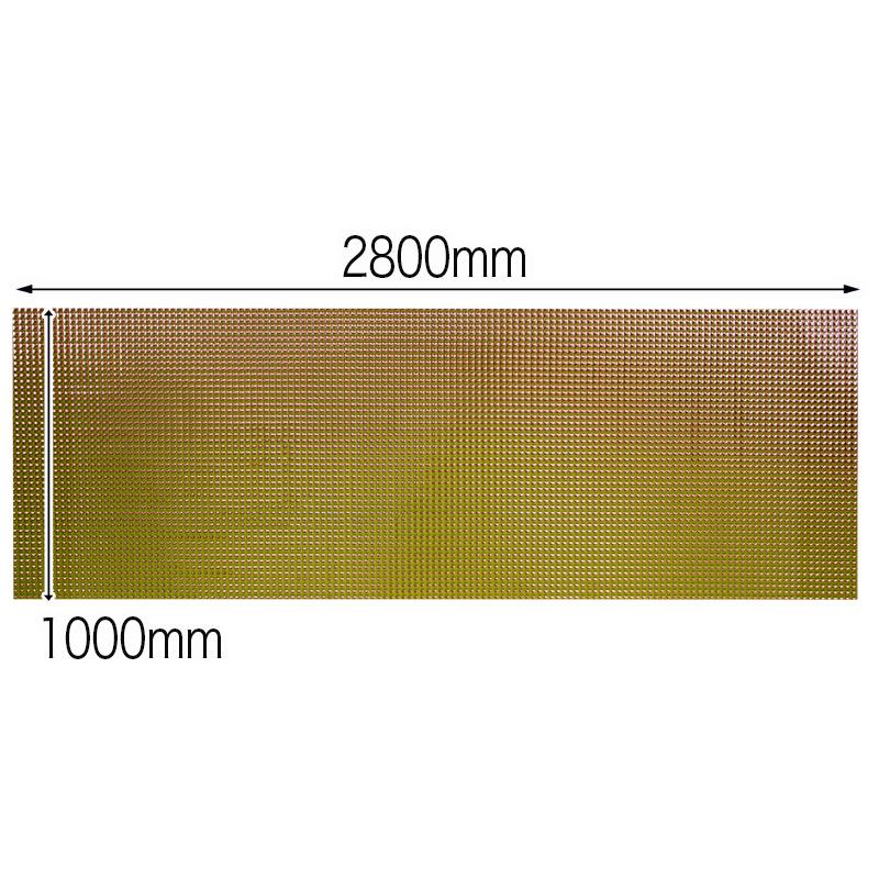 【NDCB003GL-N3】壁面装飾パネル ABS樹脂製 サンプロント ゴールド 裏面シール無し 1/3カット 920×1000mm