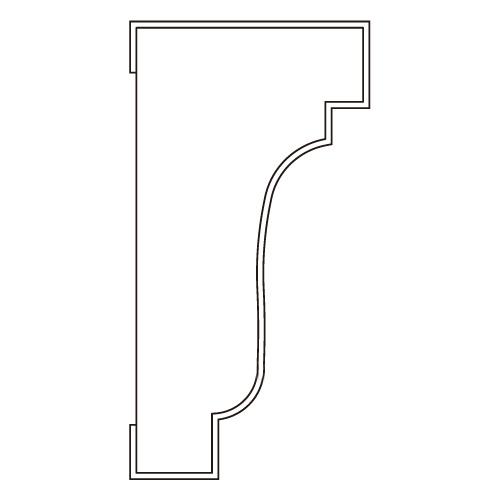 10%割引アウトレット モールディング 木製/表面シートラッピング 廻り縁・チェアレール ディープオーク色 60×30×3600mm [NRWR204G]