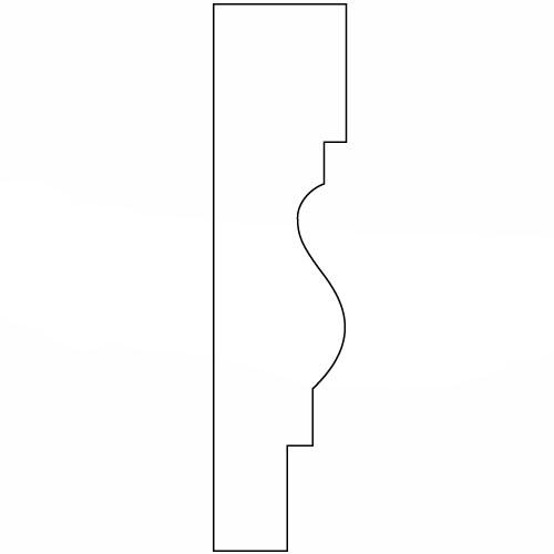 硬質ポリスチレン製モールディング 廻り縁 塗装済 115×30×2000mm 【ゴールデンモールハード NLB105】