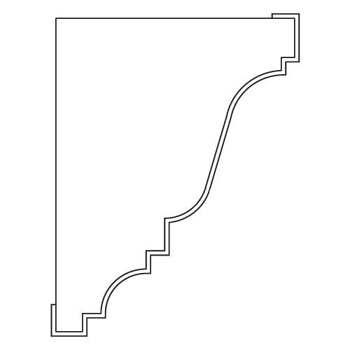 10%割引アウトレット モールディング 木製/表面シートラッピング 廻り縁・チェアレール ウォールナット色 120×90×3600mm [NRWR219E]