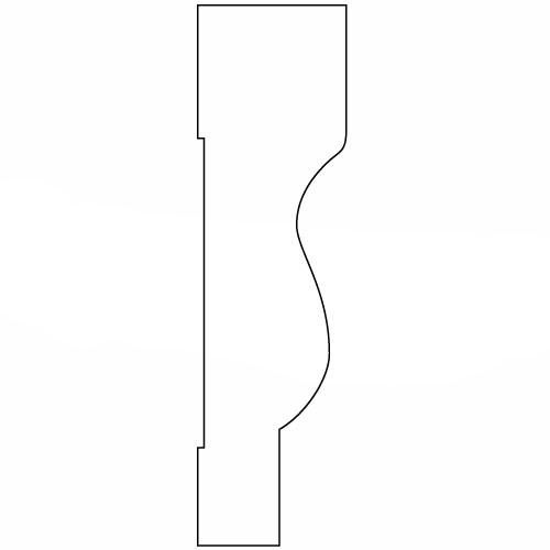 硬質ポリスチレン製モールディング 廻り縁 塗装済 146×40×2000mm 【ゴールデンモールハード NLB109】