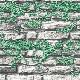【NWPS513A】 3D壁紙 3Dクロス 石壁と植物 53cm×10m