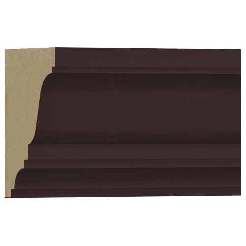 10%割引アウトレット モールディング 木製/表面シートラッピング 廻り縁・チェアレール ディープオーク色 120×90×3600mm [NRWR219G]