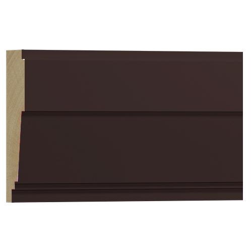 10%割引アウトレット モールディング 木製/表面シートラッピング 廻り縁・チェアレール ディープオーク色 120×37×3600mm [NRWR667G]