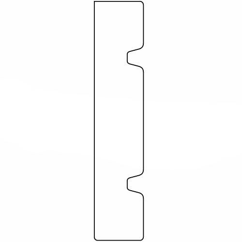 硬質ポリスチレン製モールディング 廻り縁 塗装済 200×38×2000mm 【ゴールデンモールハード NLB112】