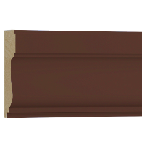 10%割引アウトレット モールディング 木製/表面シートラッピング 廻り縁・チェアレール ウォールナット色 120×35×3600mm [NRWR259E]