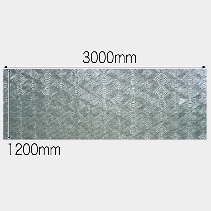 【NDCB010-2】壁面装飾パネル ABS樹脂製 サンプロント シルバー&ゴールド 裏面シール有り 1/2カット 1490×1200mm