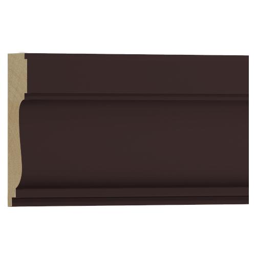 10%割引アウトレット モールディング 木製/表面シートラッピング 廻り縁・チェアレール ディープオーク色 120×35×3600mm [NRWR259G]
