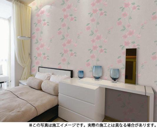 NWP012 壁紙 サンメントクロス フローラル柄 53cm×10m 。