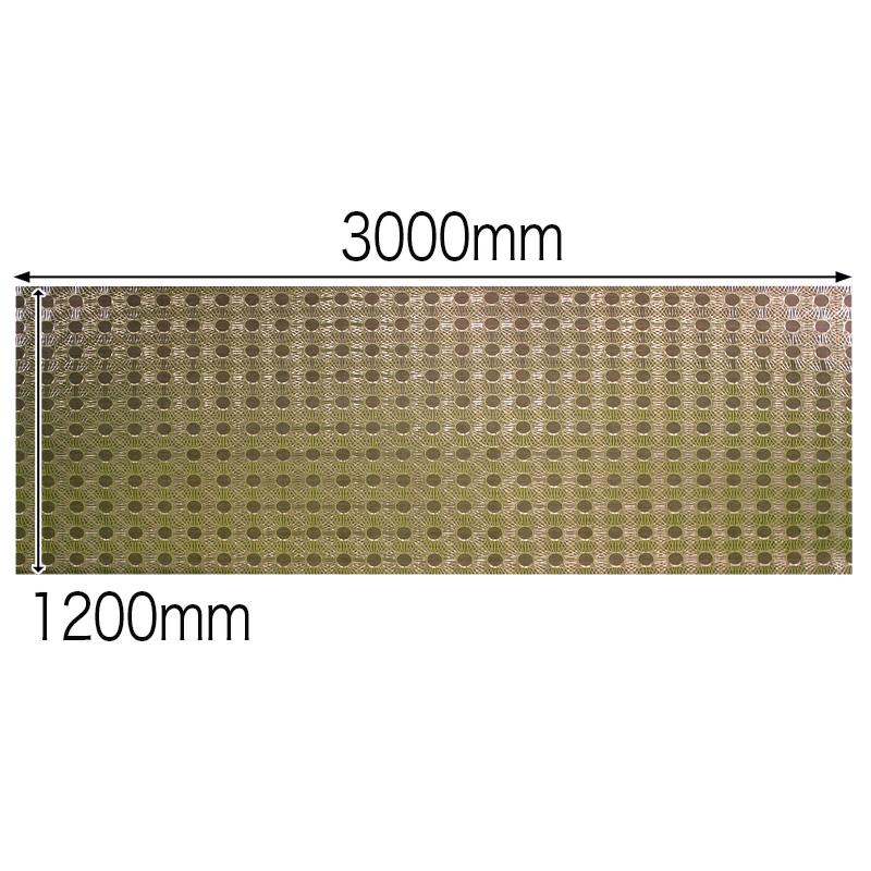 【NDCB011-3】壁面装飾パネル ABS樹脂製 サンプロント ブラウンゴールド 裏面シール有り 1/3カット 990×1200mm