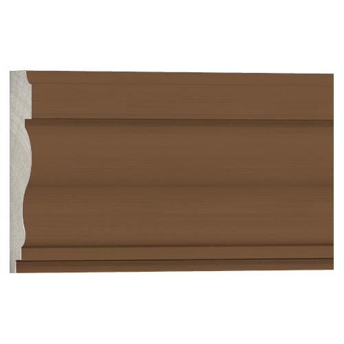 10%割引アウトレット モールディング 木製/表面シートラッピング 廻り縁・チェアレール ブラウンオーク色 120×30×3600mm [NRWR264F]