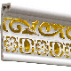 【NPC502WG】 PVC製ゴールド調モールディング 廻り縁・チェアレール プリンセスモール 78×24×2800mm