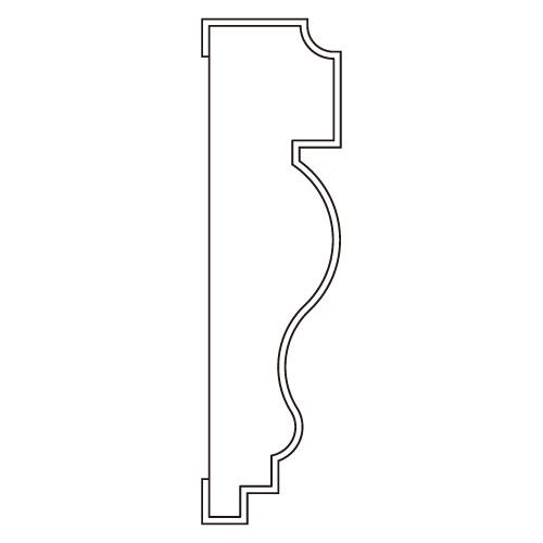10%割引アウトレット モールディング 木製/表面シートラッピング 廻り縁・チェアレール ディープオーク色 120×30×3600mm [NRWR264G]
