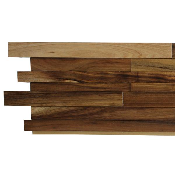 NDB1201W4|ウッドパネル壁用 3Dウッドボード アカシア色 200×1200mm  4枚セット:1枚あたり2,646円