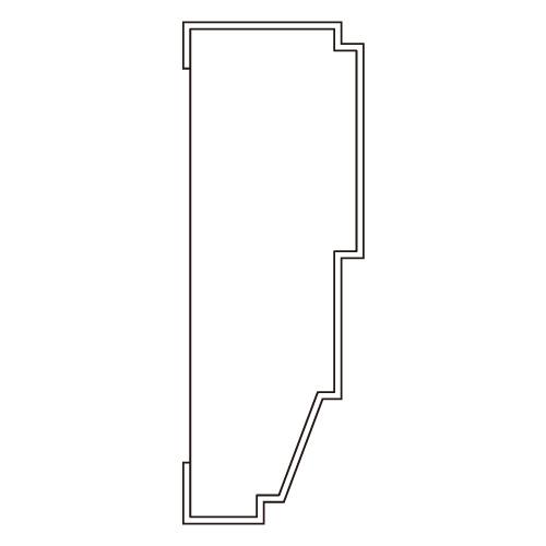 10%割引アウトレット モールディング 木製/表面シートラッピング 廻り縁・チェアレール ブラウンオーク色 90×30×3600mm [NRWR670F]