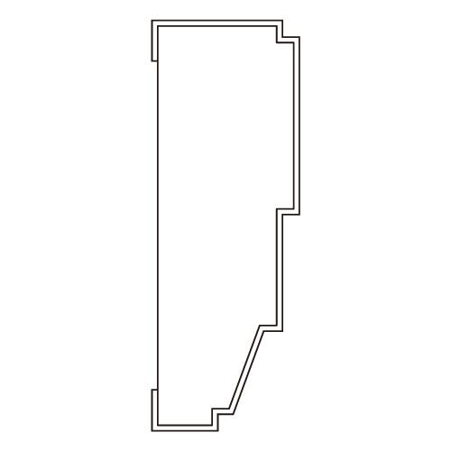 10%割引アウトレット モールディング 木製/表面シートラッピング 廻り縁・チェアレール ウォールナット色 120×40×3600mm [NRWR671E]