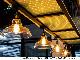 【NDCB003GL】壁面装飾パネル ABS樹脂製 サンプロント ゴールド 裏面シール有り 2800×1000mm