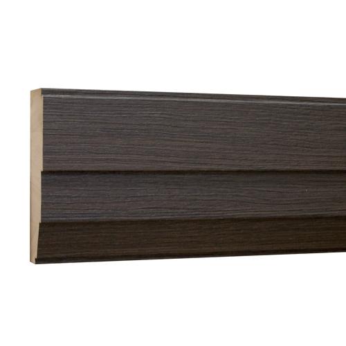 10%割引アウトレット モールディング 木製/表面シートラッピング 廻り縁・チェアレール ディープオーク色 120×40×3600mm [NRWR671G]