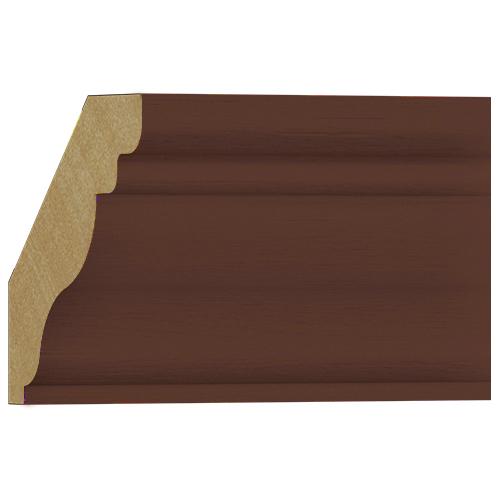 10%割引アウトレット モールディング 木製/表面シートラッピング 廻り縁 ウォールナット色 58×57×3600mm [NRWR454E]
