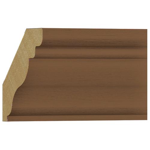 10%割引アウトレット モールディング 木製/表面シートラッピング 廻り縁 ブラウンオーク色 65×64×3600mm [NRWR455F]