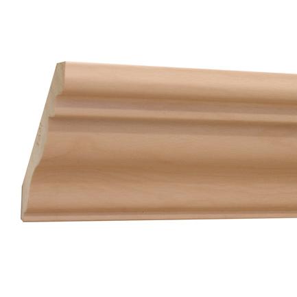 10%割引アウトレット モールディング 木製/表面シートラッピング 廻り縁 ビーチ杢色 108×106×3600mm [NRWR457B]