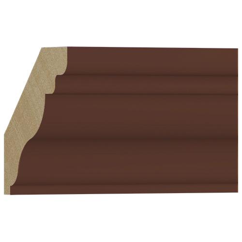 10%割引アウトレット モールディング 木製/表面シートラッピング 廻り縁 ウォールナット色 108×106×3600mm [NRWR457E]